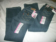 * NWT NEW GIRLS LOT OF 2 PAIRS OF SKINNY FLARE Levi's Jeans PANTS 12