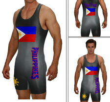 Wrestling singlet, Philippines singlet w/ custom text included, fast production