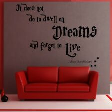HARRY POTTER QUOTE dwell dreams forget Live wall Sticker transfer large Vinyl