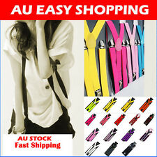 Adjustable Suspenders Braces Elastic Pants 2CM WIDTH 10 colors Y-BACK Dance