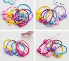 20PcsX Girls Cute Hair Band Bobbles Pony Tail Elastic Heart Star Doggy Boutique
