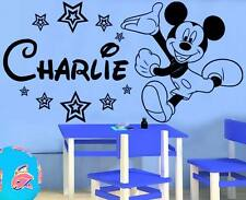 Mickey Mouse wall sticker Personalised any name boys wallart