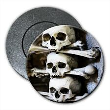 Skulls Stacked With Bones in Cave Scary Halloween Fridge Magnet