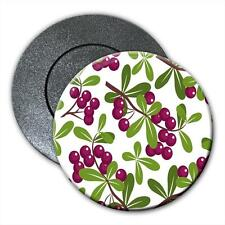 Ripe & Ready Purple Berries Growing on Green Plants Fridge Magnet