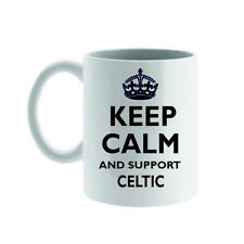 KEEP CALM AND SUPPORT PRINTED MUG, CHOICE OF TEAMS OR PERSONALISE WITH YOUR OWN