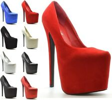 """SEXY FASHION WOMENS CONCEALED HI PLATFORM 7"""" STILETTO HEELS ANKLE SHOES SIZE 3-8"""