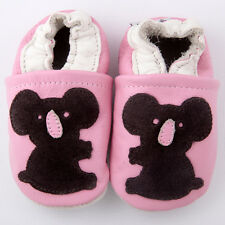 Baby Girl Infant Soft Sole Leather Shoes Pink Coffee Koala Bear G18 US0-7 0-24M