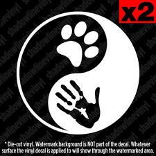 YIN YANG Dog Cat Lover vinyl decal sticker PETA Animal Rescue Rights Pet Adopt