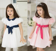 New Kids Clothing Prom Dresses Toddlers Girls Princess Chiffon Dresses Ages1-7Y