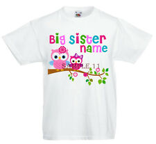 BIG SISTER T-SHIRT CUSTOM MADE TO ORDER, PERSONALISED FREE Ref NW15KX