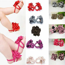 Toddler Baby Infant Girls Barefoot Flower Sock Sandals Shoes Toe Blooms Shoes