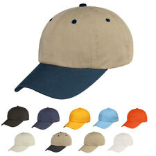 Chino Mens Washed Cotton Cap Caps Hat Hats 6 Panel Low Crown Unstructured