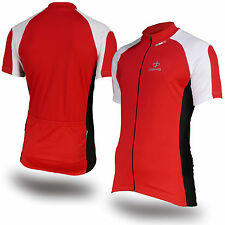Deko Phobos Full Zip Cycling Jersey, Bike Top Cycle Shirt in Red, Black or Blue