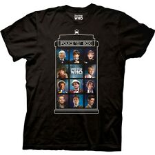Doctor Who 50 Years, 11 Doctors Tardis T-Shirt