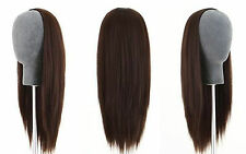 Machine weft cap Indian Remy Human Hair Glueless Half Wig selectable lengthcolor