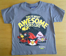 BNWT BOYS ANGRY BIRDS 'AWESOME' T-SHIRT 5-6-7-8-9-10 YEARS