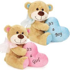 """Dog Toy Bundle of Joy Bears Soft Plush Embroidered Heart Squeaker New Puppy 9.5"""""""