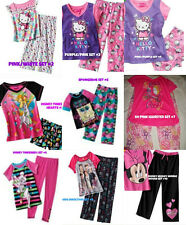 * NWT NEW GIRLS 2PC HELLO KITTY SPONGEBOB DISNEY SHORT SLEEVE PAJAMAS SET 4 4/6
