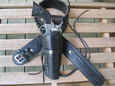 Cartridge Gun Belt Combo - .22 Cal Smooth H - Leather - Black - Specify Size