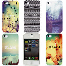 Country River Dots Smoke Wave Design Hard Back Shell Case Cover for iPhone 4 4S