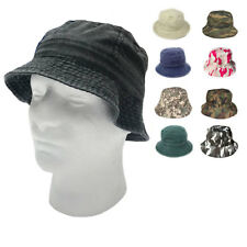 NEW MENS WASHED BUCKET HAT HATS CAP CAPS FISHERMAN'S HUNTING HIKING BEACH WEAR