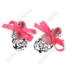 Baby infant shoes Silk Ribbon First Walkers