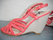 Ladies Ex Chainstore Light Red Wedge Sandals.  Sizes 4 & 6 Remaining
