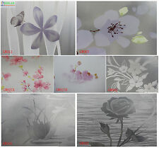 "floral A pattern privacy decorative frosted glass window film 35"" 3 ft width"
