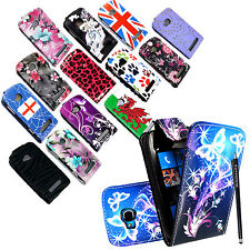 FOR NOKIA LUMIA 710 NEW STYLISH PRINTED MAGNETIC LEATHER FLIP CASE COVER+STYLUS