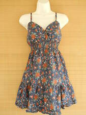 Baby Doll Spaghetti Summer Tunic Cotton Tank Top Printed Navy Floral