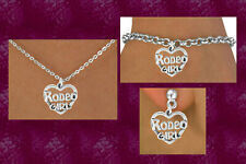 RODEO GIRL Barrel Racing Cowgirl Cowboy Horse Equestrian Rodeo Texas Lov Jewelry