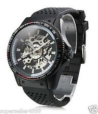 Men's Alloy Analog Automatic Mechanical Casual Watch White/Black