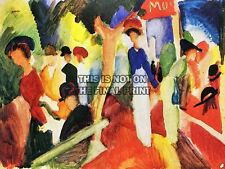 AUGUST MACKE HAT SHOP AT PROMENADE OLD MASTER ART PAINTING PRINT POSTER