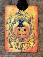 Hang Tags  BLACK CAT PUMPKIN HALLOWEEN TAGS or MAGNET #321  Gift Tags