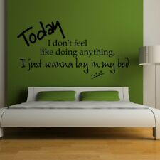 BRUNO MARS wall sticker lazy song bedroom lyrics decal music quotes art quote