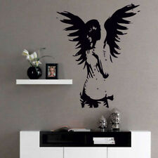 ANGEL wall sticker giant banksy guardian bedroom decal fairy vinyl stickers