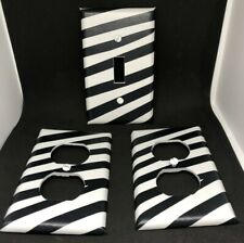 LIGHT SWITCH & OUTLET COVERS - ZEBRA - BLACK & WHITE - FREE SHIPPING!!