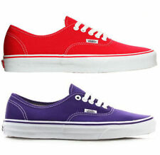 VANS AUTHENTIC WOMENS SHOES RED PURPLE. WOMENS US SIZES