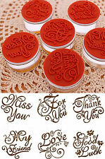 Crystal Clear Rubber Stamps 5 Greetings Art Deco Nouveau Round Card Craft Set