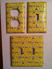 SPONGEBOB PATTERN OUTLETS AND SWITCH PLATE COVERS - KIDS ROOM - FAMILY ROOM -