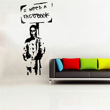 Banksy Facebook Decal Vinyl Wall Sticker