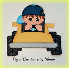 Craftecafe Mindy Sports Racing boy premade paper piecing for scrapbook page