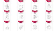 FIZZYMOON CHRISTMAS CLEAR PHOTOPOLYMER STAMPS - 12 DESIGNS