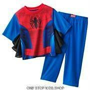 SPIDERMAN Boys 2T 3T 4T Pjs Set Costume PAJAMAS Shirt Pants Marvel Super Hero