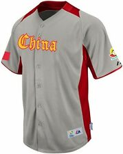Team China Majestic 2013 World Baseball Classic On Field Authentic Away Jersey