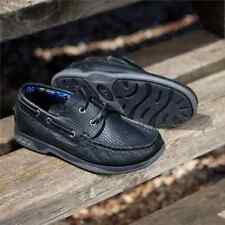 Chatham Skipper Lace Up Childrens Deck Shoe - Leather Kids Boys Shoes