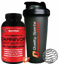 MuscleMeds CARNIVOR BEEF AMINOS 300 CONCENTRATED TABS 100% PURE BEEF PROTEIN