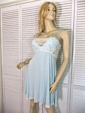 NWT-$80 CAROL HOCHMAN NIGHTGOWN S & M HOPELESSLY IN LOVE BRIDAL GOWN BLUE/LACE