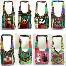 new Hippie made in nepali Handmade rasta Shoulder Bag Jack Skellington one love