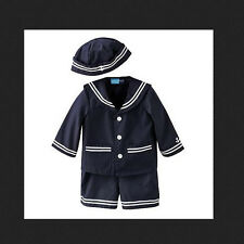 * NEW 3PC BOYS GOODLAD Nautical Sailor Hat SUMMER OUTFIT SET 6/9M